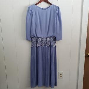 Miss Elliette Vintage Lavender Pleated Dress
